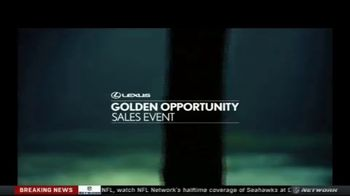 Lexus Golden Opportunity Sales Event TV Spot, 'Luxury and Capability' [T1] - Thumbnail 1