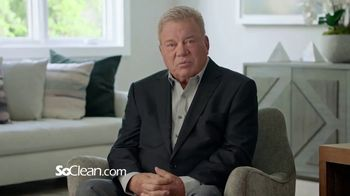 SoClean TV Spot, 'Healthy Sleep Every Night: $100 Off' Featuring William Shatner - 1439 commercial airings