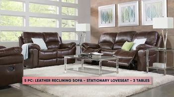 Rooms to Go Fall Sale TV Spot, 'Five-Piece Leather Living Room Set' - Thumbnail 5