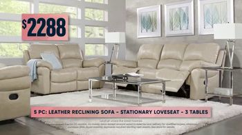 Rooms to Go Fall Sale TV Spot, 'Five-Piece Leather Living Room Set' - Thumbnail 6