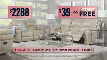 Rooms to Go Fall Sale TV Spot, 'Five-Piece Leather Living Room Set' - Thumbnail 7