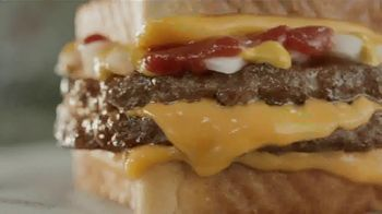 Sonic Drive-In Grilled Cheese Double Burger TV Spot, 'Try One Half Price in the App'