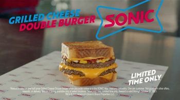 Sonic Drive-In Grilled Cheese Double Burger TV Spot, 'Debate: What Came First?' - Thumbnail 10