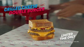 Sonic Drive-In Grilled Cheese Double Burger TV Spot, 'Debate: What Came First?' - Thumbnail 9