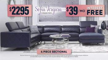 Rooms to Go Fall Sale TV Spot, 'Sofa Vergara Four Piece Sectional' - Thumbnail 8