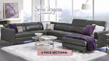 Rooms to Go Fall Sale TV Spot, 'Sofa Vergara Four Piece Sectional' - Thumbnail 5