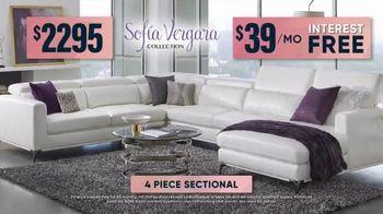 Rooms to Go Fall Sale TV Spot, 'Sofa Vergara Four Piece Sectional' - Thumbnail 6