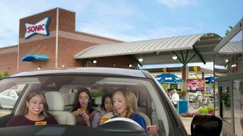 Sonic Drive-In Grilled Cheese Double Burger TV Spot, 'Cuadrado compacto' [Spanish]