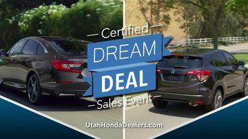 Honda Certified Dream Deal Sales Event TV Spot, 'Get a Dream Deal' [T2] - Thumbnail 1