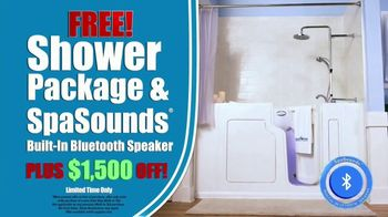 Safe Step TV Spot, 'Look No Further: Free Shower Package, Free SpaSounds Speaker, $1,500 Off' - Thumbnail 4