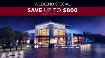 Sleep Number Fall Sale TV Spot, 'Weekend Special: Cowboys Powering: Save $800' - Thumbnail 7