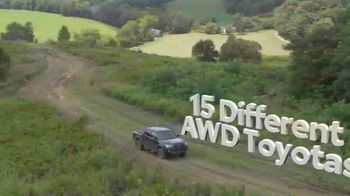 Toyota Fall Savings TV Spot, 'Back on the Road: AWD' Featuring Danielle Demski, Ethan Erickson [T2] - Thumbnail 2