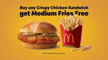 McDonald's Crispy Chicken Sandwich TV Spot, 'Free Medium Fries' Song by Tay Keith - Thumbnail 7