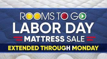 Rooms to Go Labor Day Mattress Sale TV Spot, 'Extended: Tempur-Pedic Mattress, 2 Free Pillows' - Thumbnail 2