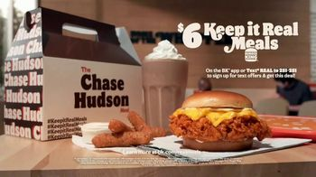 Burger King $6 Keep It Real Meals TV Spot, 'The Chase Hudson Meal' Song By LILHUDDY - Thumbnail 5