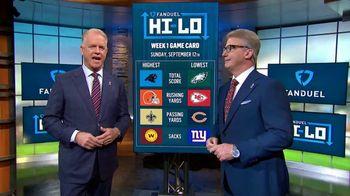 FanDuel Hi-Lo TV Spot, 'Week 1 Game Card' Featuring Boomer Esiason