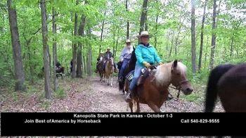 Best of America by Horseback TV Spot, 'Elkins Creek, Kanopolis Park, Hughes Ranch, Trails Etc.' - Thumbnail 3