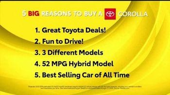 Toyota 5 Big Reasons Event TV Spot, 'Reasons to Buy a Corolla' [T2] - Thumbnail 1