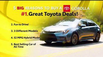 Toyota 5 Big Reasons Event TV Spot, 'Reasons to Buy a Corolla' [T2] - Thumbnail 2