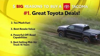 Toyota 5 Big Reasons Event TV Spot, 'Reasons to Buy a Tacoma' [T2]