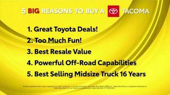 Toyota 5 Big Reasons Event TV Spot, 'Reasons to Buy a Tacoma' [T2] - Thumbnail 1