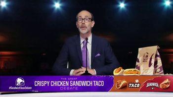 Taco Bell Crispy Chicken Sandwich Taco TV Spot, 'Debate: Tortilla' Featuring Brian Huskey - Thumbnail 10