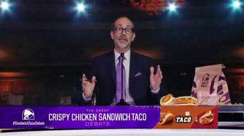 Taco Bell Crispy Chicken Sandwich Taco TV Spot, 'Debate: Tortilla' Featuring Brian Huskey - Thumbnail 2