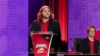 Taco Bell Crispy Chicken Sandwich Taco TV Spot, 'Debate: Tortilla' Featuring Brian Huskey - Thumbnail 9