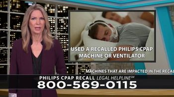 Legal Help Line TV Spot, 'Philips CPAP Recall'