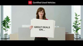 Toyota Certified Used Vehicles Sales Event TV Spot, 'Cue Cards' [T1] - Thumbnail 1