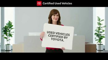 Toyota Certified Used Vehicles Sales Event TV Spot, 'Cue Cards' [T1] - Thumbnail 2