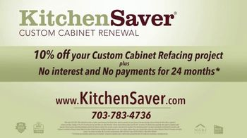 Kitchen Saver Cabinet Refacing TV Spot, 'Less Time, Cost and Mess' - Thumbnail 9