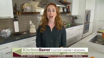 Kitchen Saver Cabinet Refacing TV Spot, 'Less Time, Cost and Mess' - Thumbnail 5