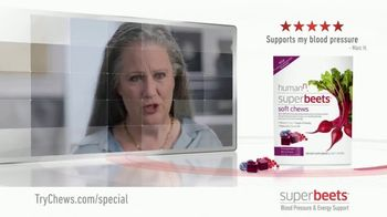 SuperBeets Soft Chews TV Spot, 'Healthy Circulation' - Thumbnail 3