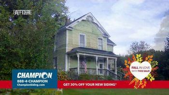 Champion Windows TV Spot, 'Fall in Love: 30% off Siding' - Thumbnail 2
