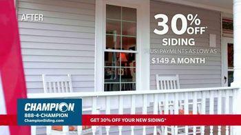 Champion Windows TV Spot, 'Fall in Love: 30% off Siding' - Thumbnail 5