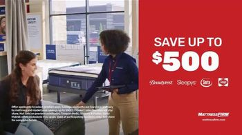 Mattress Firm Semi-Annual Sale TV Spot, 'Save Up to $500 and $300 Gift'