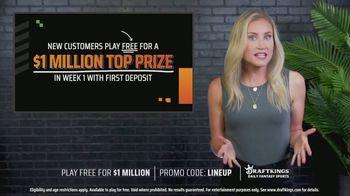 DraftKings TV Spot, 'Week One: $1 Million Top Prize'