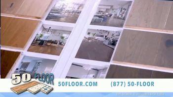 50 Floor August Special TV Spot, 'CBS 11: 60% Off All Materials, Extra $100 Off'