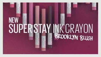 Maybelline New York SuperStay Ink Crayon Brooklyn Blush TV Spot, 'Blushed Shades'