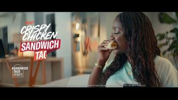 Taco Bell Crispy Chicken Sandwich Taco TV Spot, 'Taco vs. Sandwich Rivalry' - Thumbnail 7