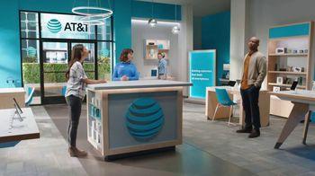 AT&T Wireless TV Spot, 'Lily Rotating Sign + Samsung Galaxy Z Fold3 5G' - Thumbnail 5