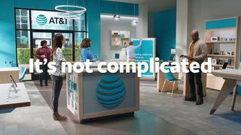 AT&T Wireless TV Spot, 'Lily Rotating Sign + Samsung Galaxy Z Fold3 5G' - Thumbnail 9