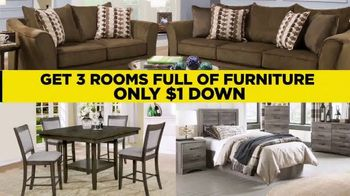 Surplus Discount Furniture & Mattress Warehouse $1 Down Event TV Spot, 'Motion Sofas and Bedrooms' - Thumbnail 3