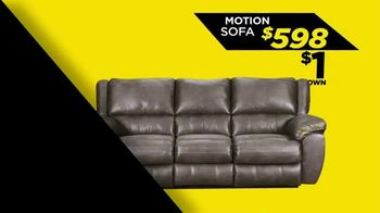 Surplus Discount Furniture & Mattress Warehouse $1 Down Event TV Spot, 'Motion Sofas and Bedrooms' - Thumbnail 4