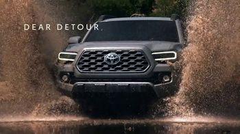 Toyota TV Spot, 'Dear Detour' [T1] - Thumbnail 1