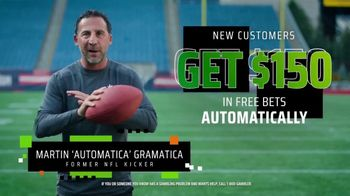DraftKings SportsBook TV Spot, 'The NFL Is Back' Featuring Martin Gramatica - Thumbnail 6