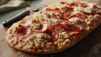 Panera Bread Sausage & Pepperoni Flatbread Pizza TV Spot, 'Live Your Yes: $1 Delivery'