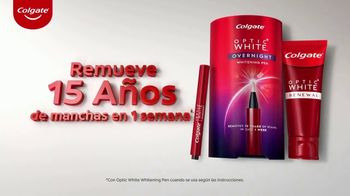 Colgate Optic White Renewal TV Spot, 'Adiós manchas en los dientes' [Spanish]