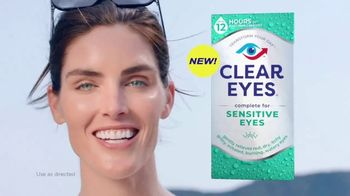 Clear Eyes TV Spot, 'Sensitive Eyes?' Featuring Hilary Rhoda
